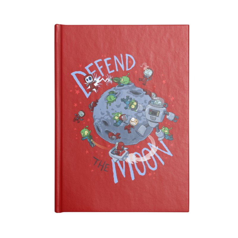 Moon Battle Accessories Lined Journal Notebook by Dooomcat