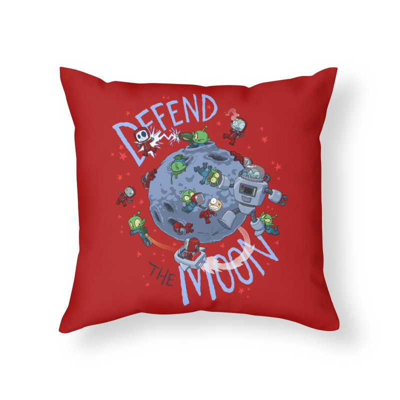 Moon Battle Home Throw Pillow by Dooomcat