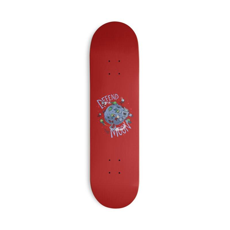 Moon Battle Accessories Skateboard by Dooomcat