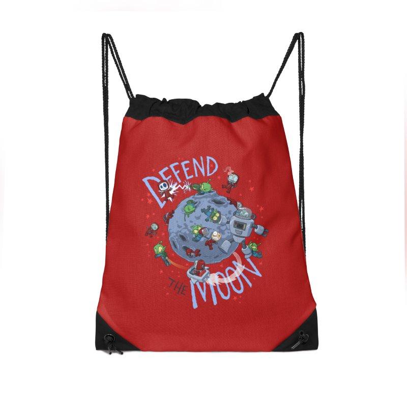 Moon Battle Accessories Drawstring Bag Bag by Dooomcat