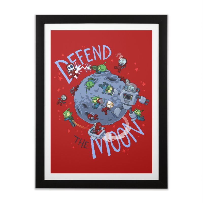 Moon Battle Home Framed Fine Art Print by Dooomcat