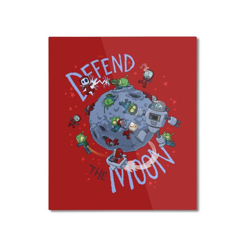 Moon Battle Home Mounted Aluminum Print by Dooomcat