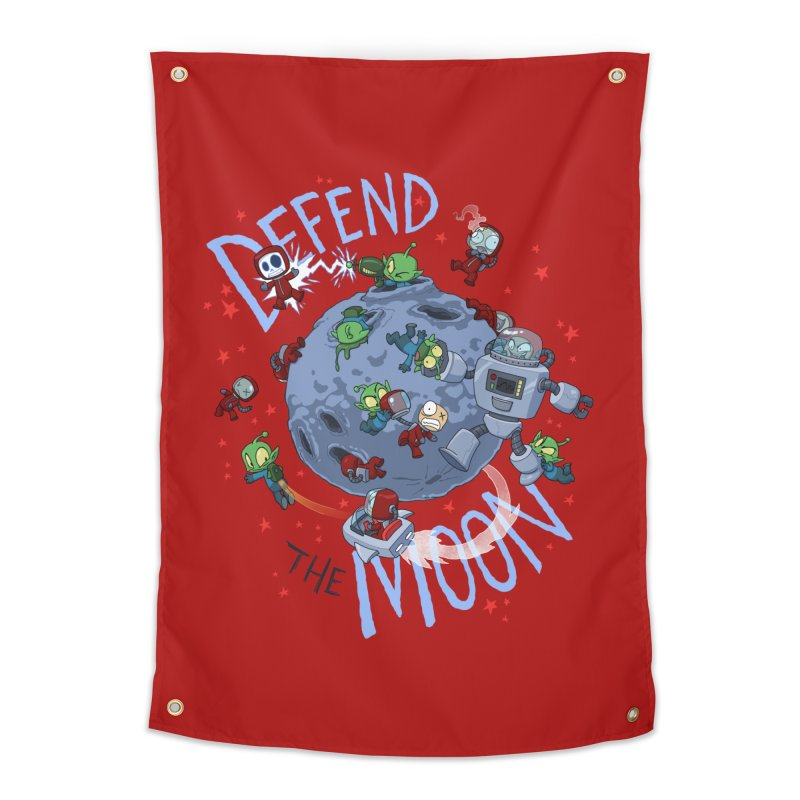 Moon Battle Home Tapestry by Dooomcat
