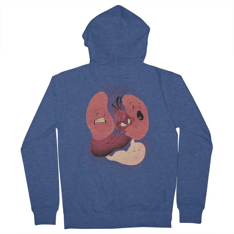 Heart Attack Men's Zip-Up Hoody by Dooomcat