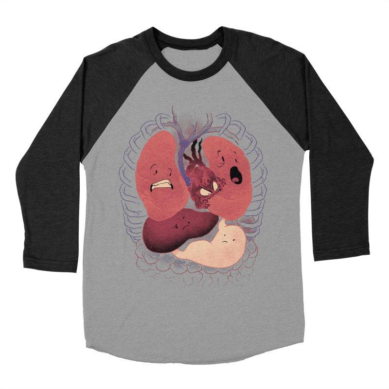 Heart Attack Men's Baseball Triblend T-Shirt by Dooomcat