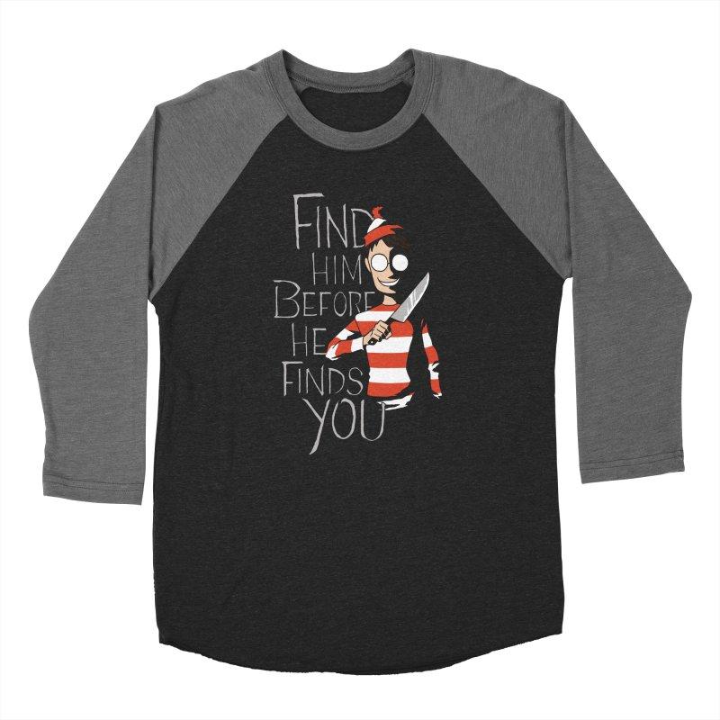 Hiding in the Dark Men's Baseball Triblend Longsleeve T-Shirt by Dooomcat