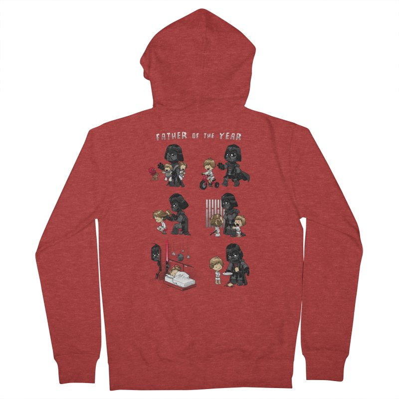 Father of the Year Men's French Terry Zip-Up Hoody by Dooomcat