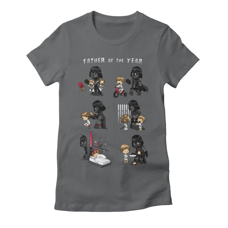 Father of the Year Women's Fitted T-Shirt by Dooomcat