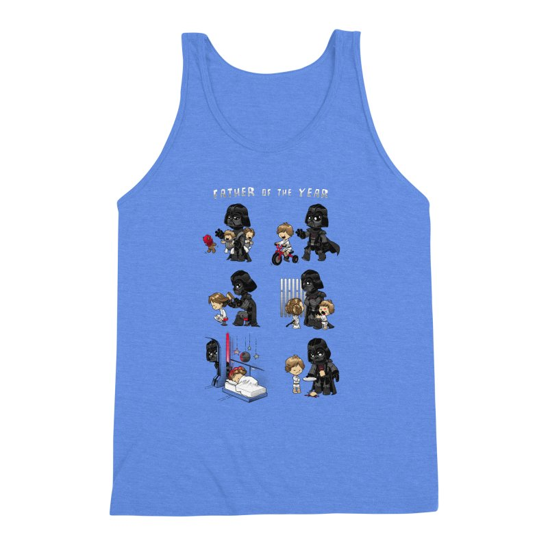 Father of the Year Men's Triblend Tank by Dooomcat