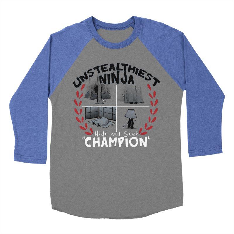 Unstealthiest Ninja Men's Baseball Triblend T-Shirt by Dooomcat