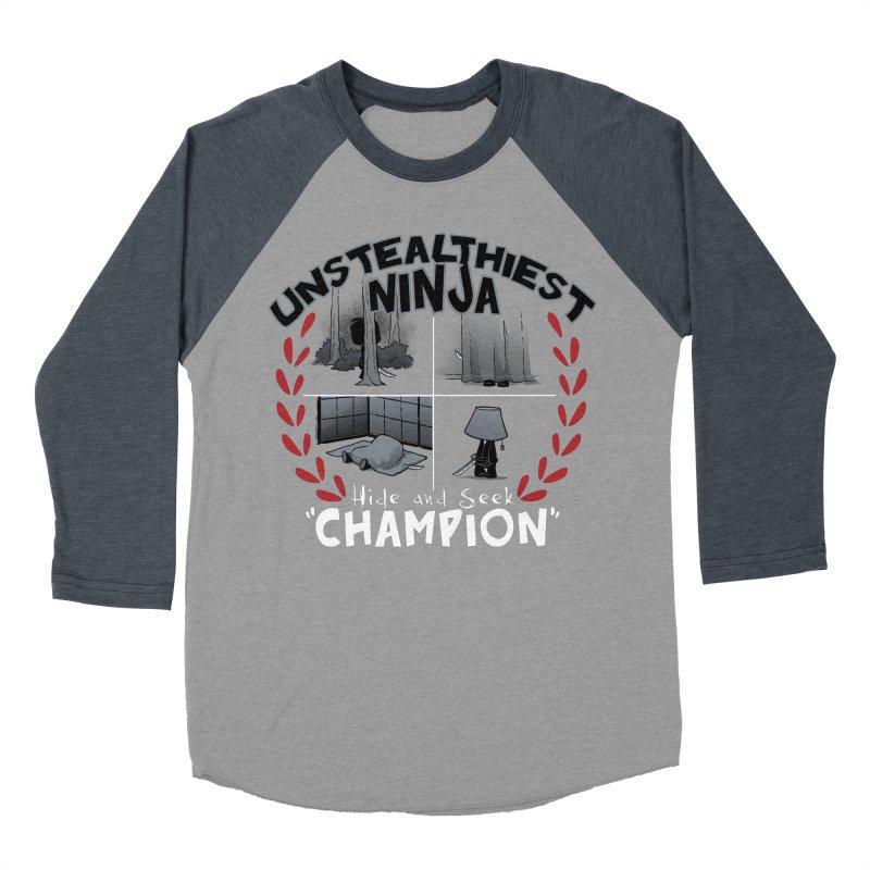 Unstealthiest Ninja Men's Baseball Triblend Longsleeve T-Shirt by Dooomcat