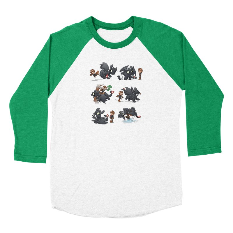 How Not to Train Your Dragon Men's Baseball Triblend Longsleeve T-Shirt by Dooomcat