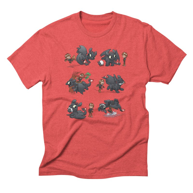 How Not to Train Your Dragon Men's Triblend T-Shirt by Dooomcat