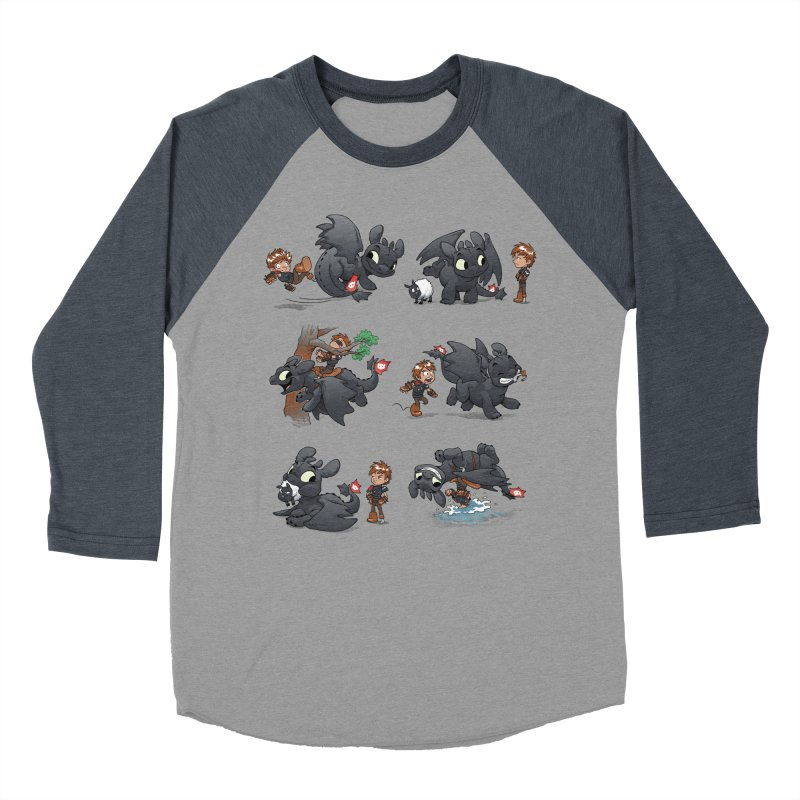 How Not to Train Your Dragon Men's Baseball Triblend T-Shirt by Dooomcat