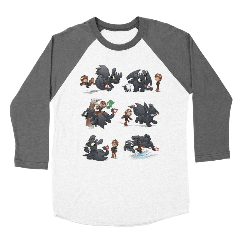 How Not to Train Your Dragon Men's Baseball Triblend Longsleeve T-Shirt by Dooomcat