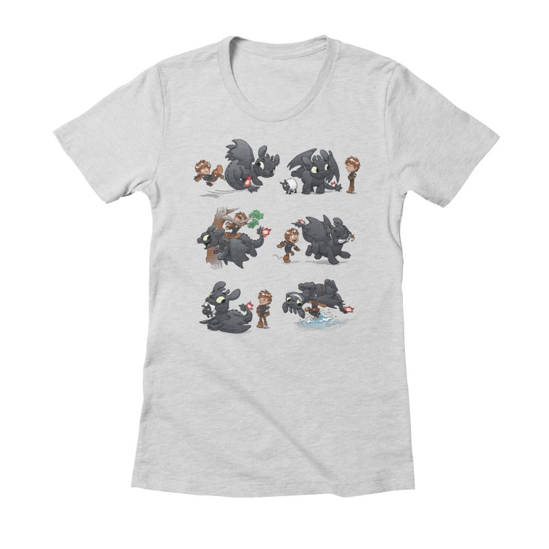 How Not to Train Your Dragon Women's Fitted T-Shirt by Dooomcat