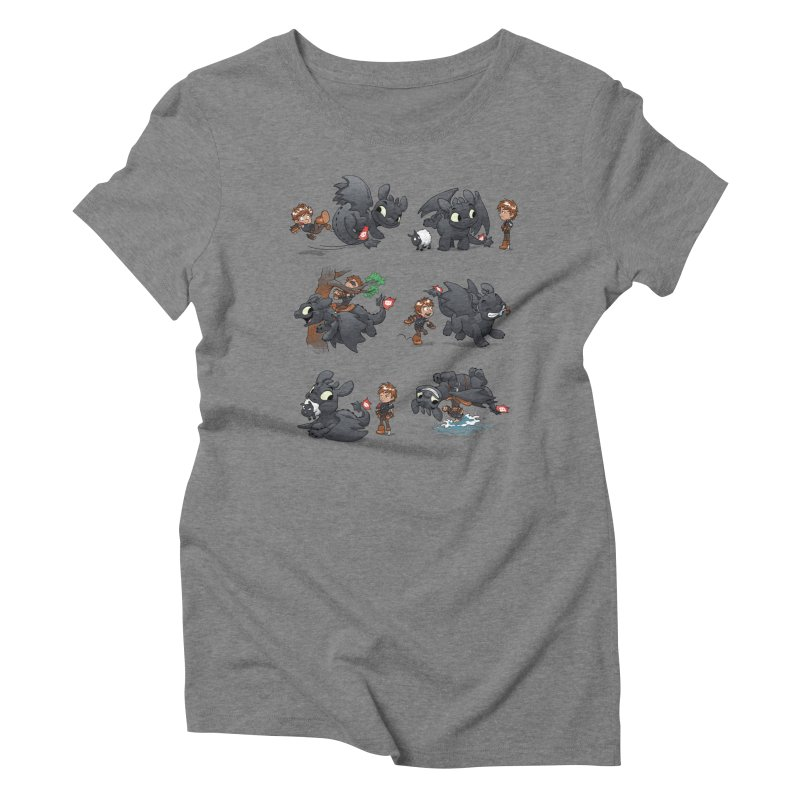 How Not to Train Your Dragon Women's Triblend T-Shirt by Dooomcat
