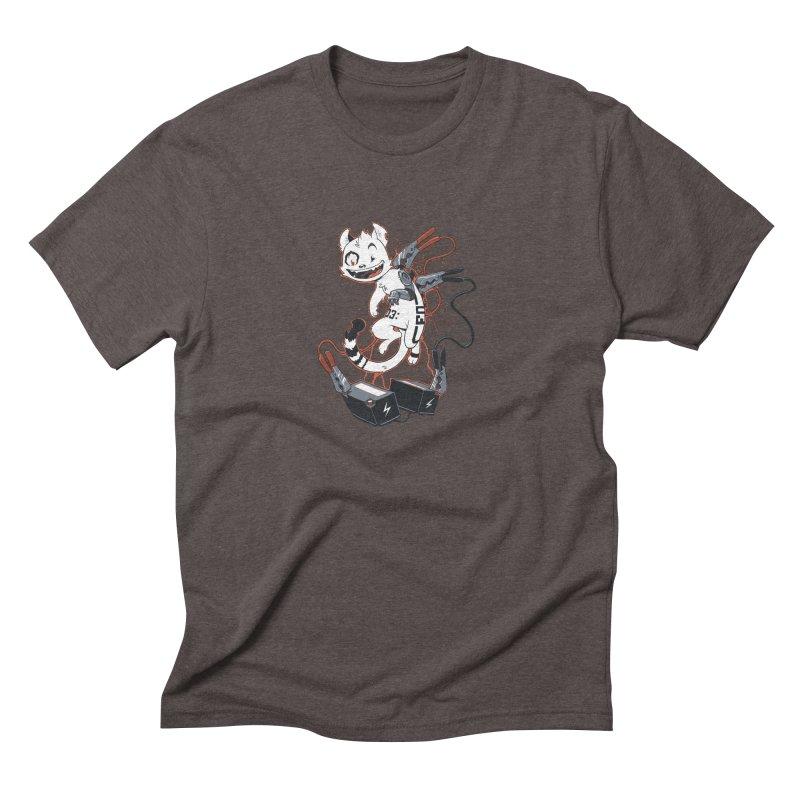 Cybercat Men's Triblend T-Shirt by Dooomcat