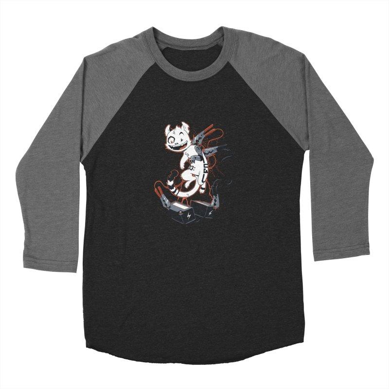 Cybercat Men's Baseball Triblend T-Shirt by Dooomcat