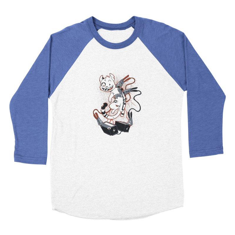 Cybercat Men's Baseball Triblend Longsleeve T-Shirt by Dooomcat