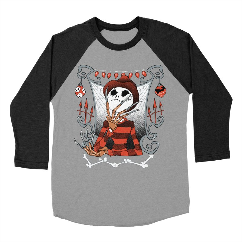 The Nightmare King Men's Baseball Triblend T-Shirt by Dooomcat