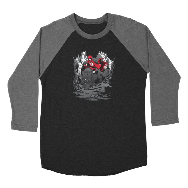 Red Men's Baseball Triblend Longsleeve T-Shirt by Dooomcat