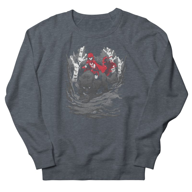 Red Men's French Terry Sweatshirt by Dooomcat
