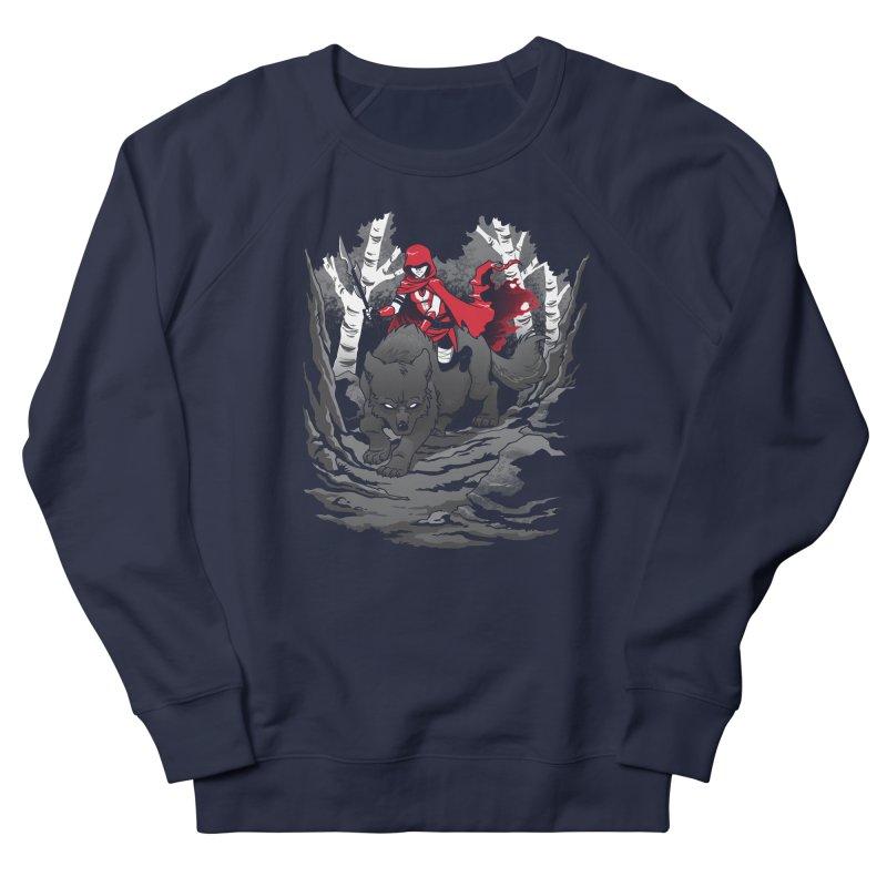 Red Men's French Terry Sweatshirt by Dooomcat
