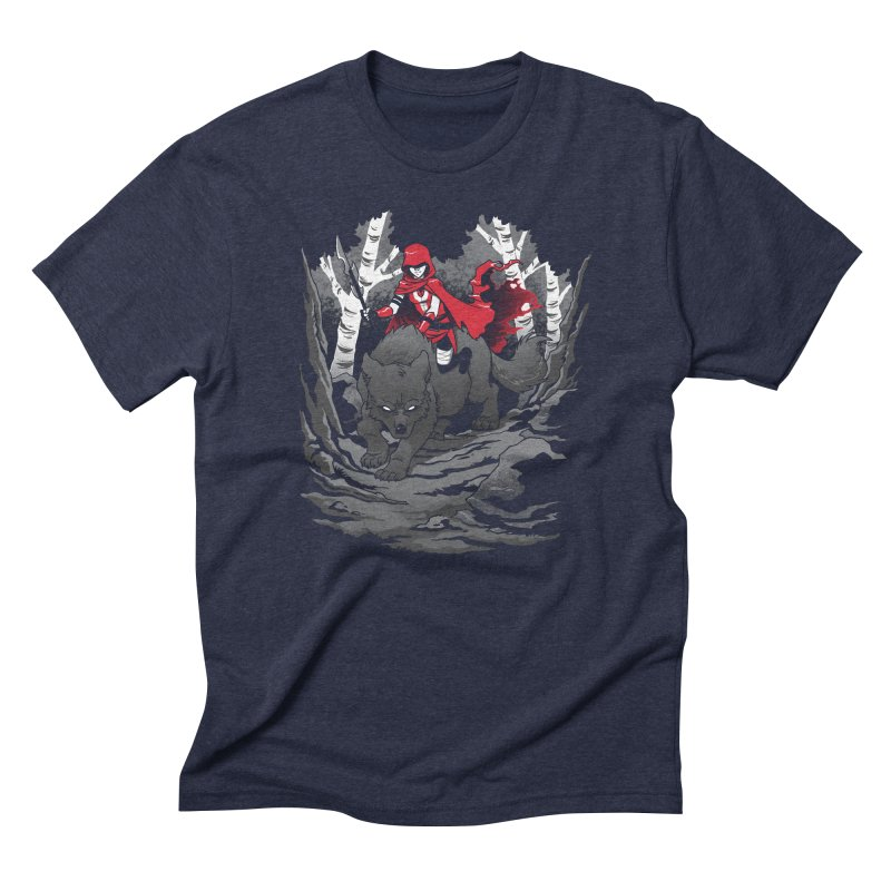 Red Men's Triblend T-Shirt by Dooomcat