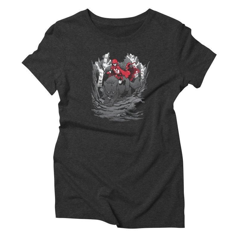 Red Women's T-Shirt by Dooomcat