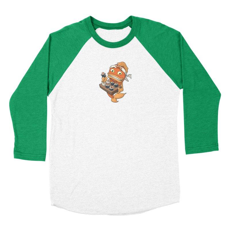 Sushi Fish Men's Baseball Triblend Longsleeve T-Shirt by Dooomcat