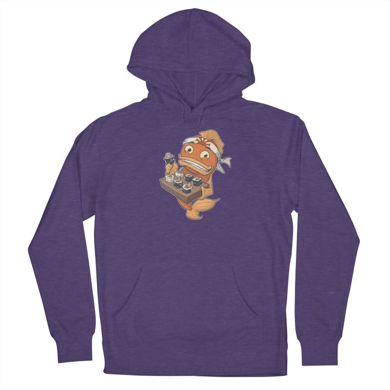 Sushi Fish Men's French Terry Pullover Hoody by Dooomcat