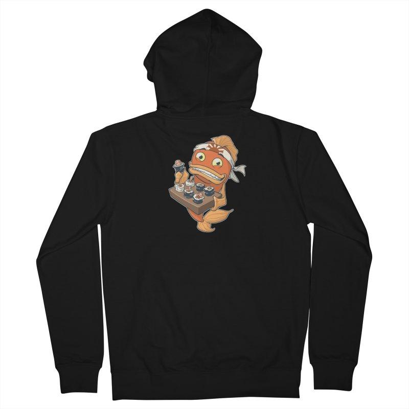 Sushi Fish Men's Zip-Up Hoody by Dooomcat