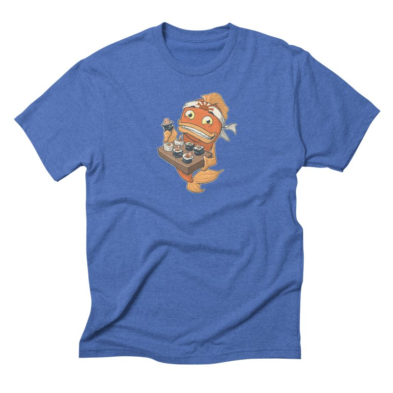 Sushi Fish Men's Triblend T-Shirt by Dooomcat