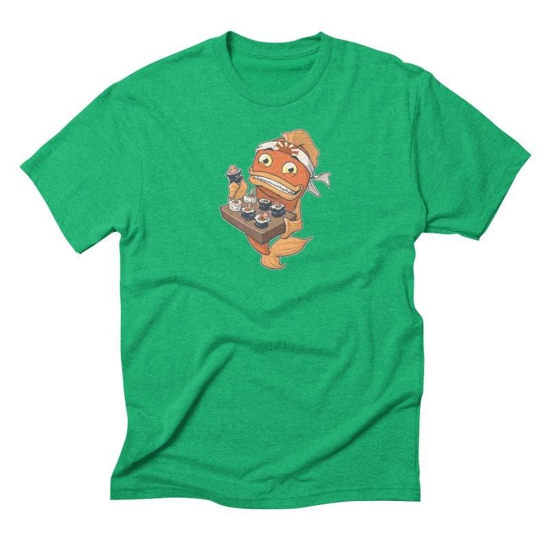 Sushi Fish Men's Triblend T-Shirt by Dooomcat