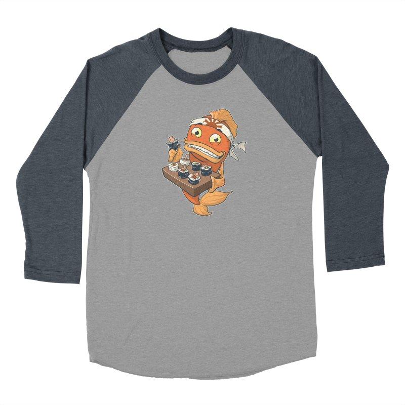 Sushi Fish Men's Baseball Triblend T-Shirt by Dooomcat