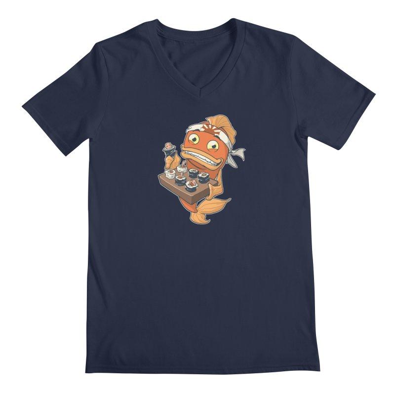 Sushi Fish Men's V-Neck by Dooomcat