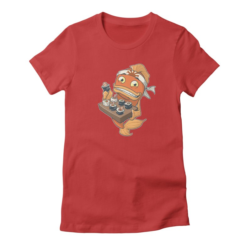 Sushi Fish Women's Fitted T-Shirt by Dooomcat