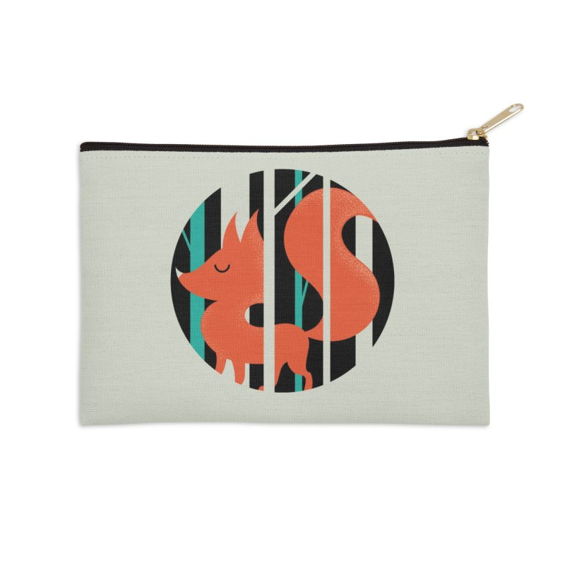 Proud Forest Fox Accessories Zip Pouch by DOOZAL