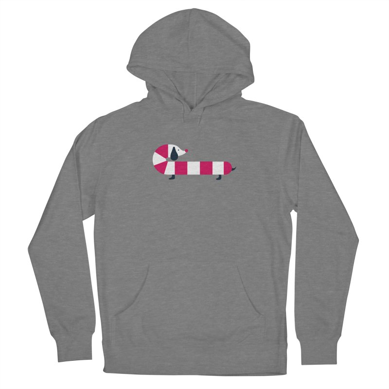 Christmas Candy Cane Dog Women's Pullover Hoody by DOOZAL