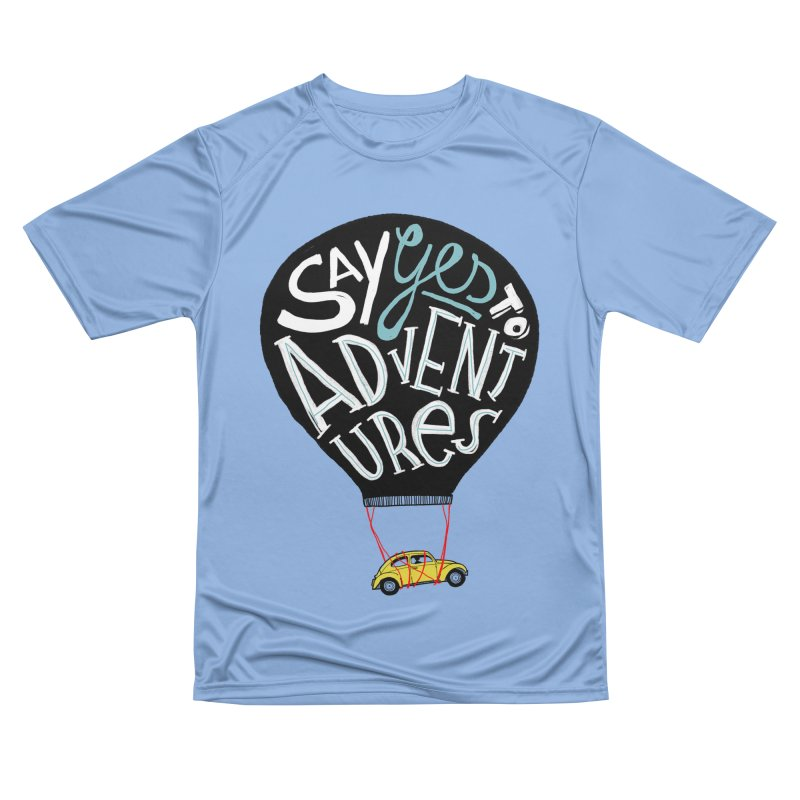 Say Yes To Adventure Men's T-Shirt by DOOZAL