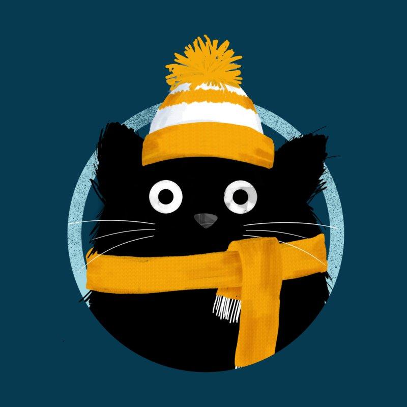 Snowy Winter Day Cat Men's T-Shirt by DOOZAL
