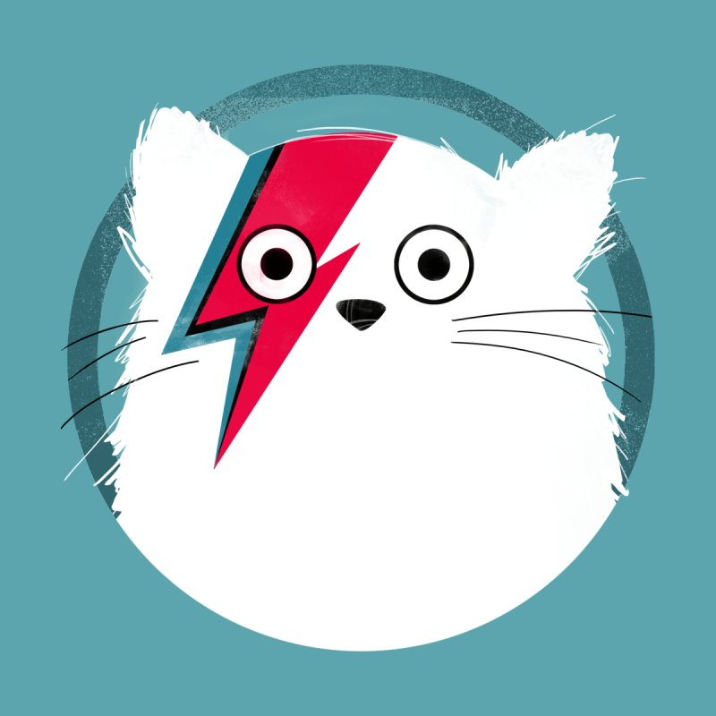 Cat Bowie - White Accessories Mug by DOOZAL