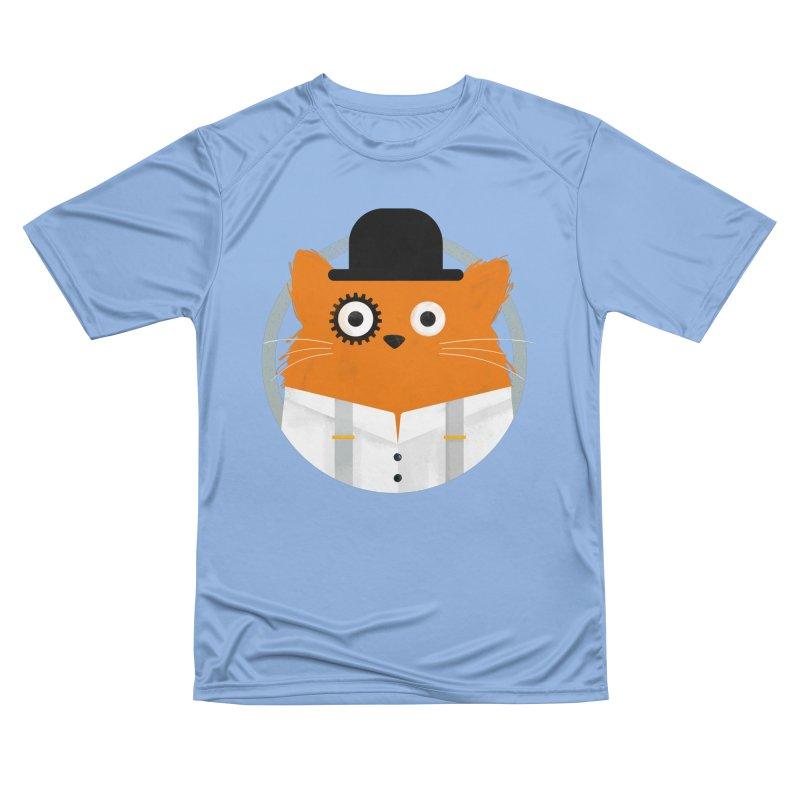 Cat Clockwork Men's T-Shirt by DOOZAL