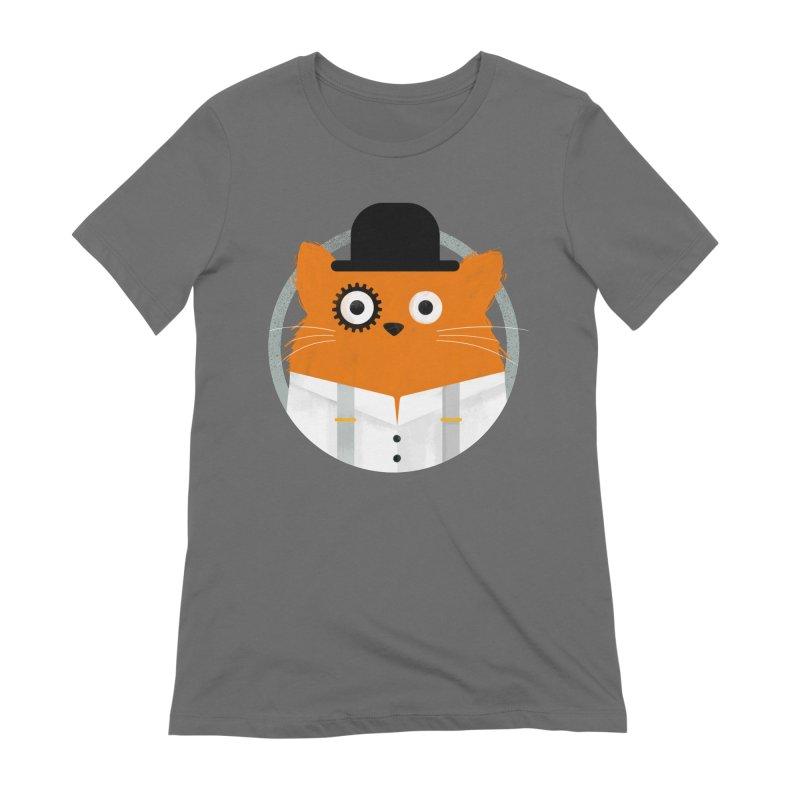 Cat Clockwork Women's T-Shirt by DOOZAL