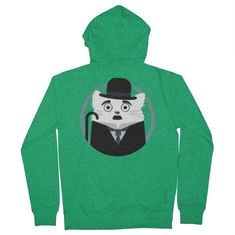 Cat Chaplin Men's Zip-Up Hoody by DOOZAL