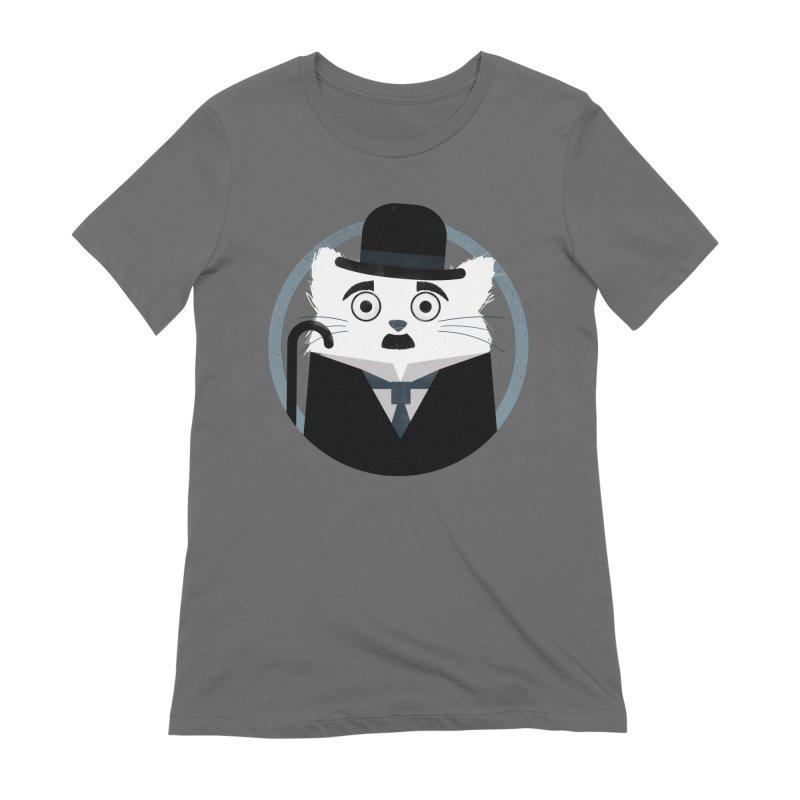 Cat Chaplin Women's T-Shirt by DOOZAL
