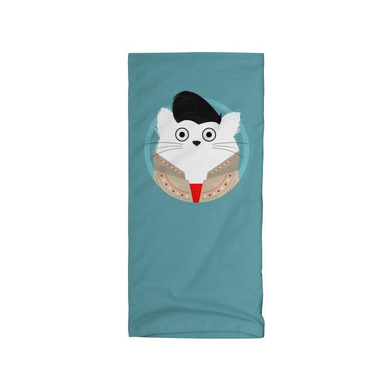Cat Elvis Accessories Neck Gaiter by DOOZAL