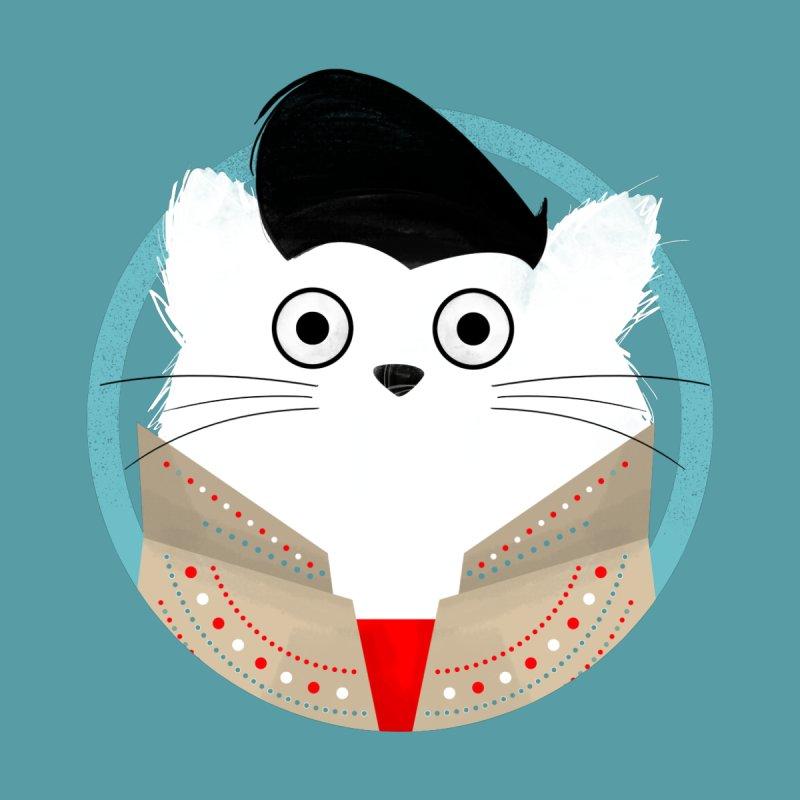 Cat Elvis Men's T-Shirt by DOOZAL