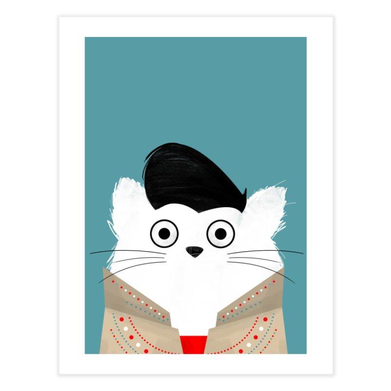 Cat Elvis Home Fine Art Print by DOOZAL